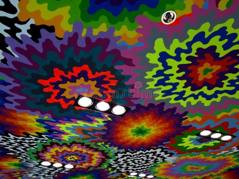 Decke von vielen Farbe spritzt lizenzfreie stockbilder