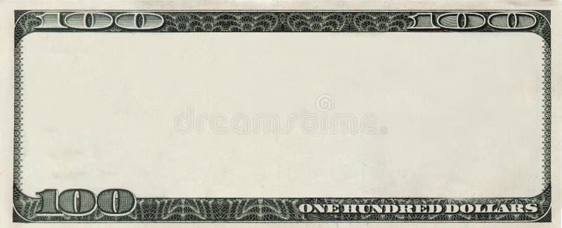 decken Sie 100 Dollar Banknote mit copyspace ab stockfotos