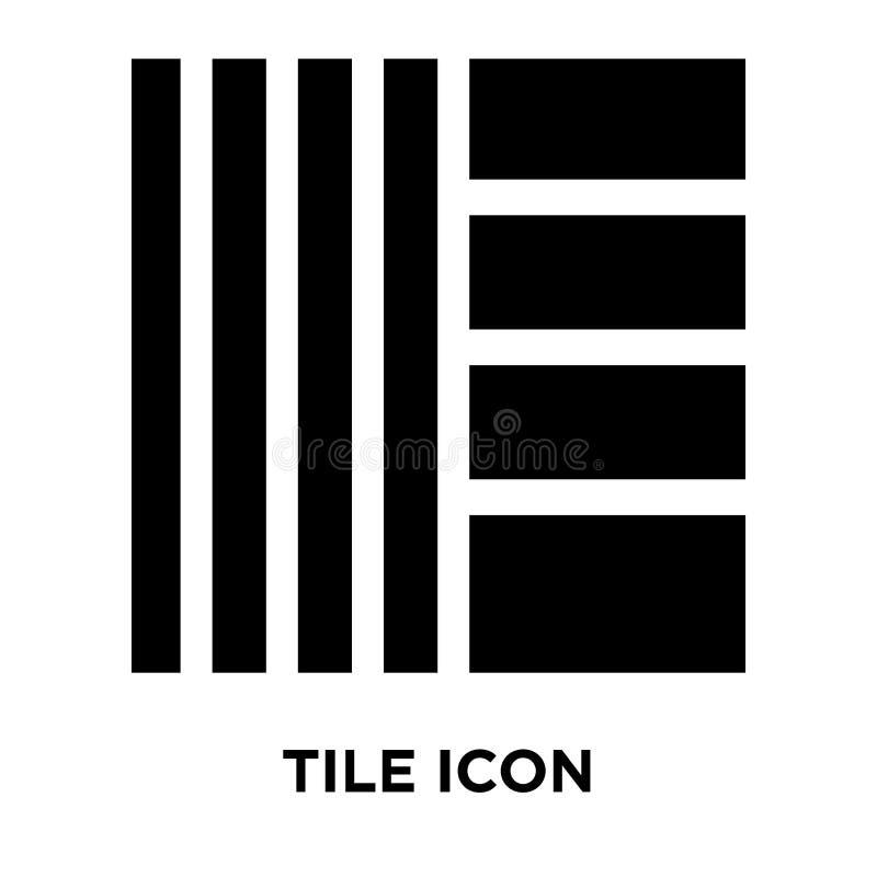 Decken Sie den Ikonenvektor mit ziegeln, der auf weißem Hintergrund, Logokonzept von T lokalisiert wird vektor abbildung