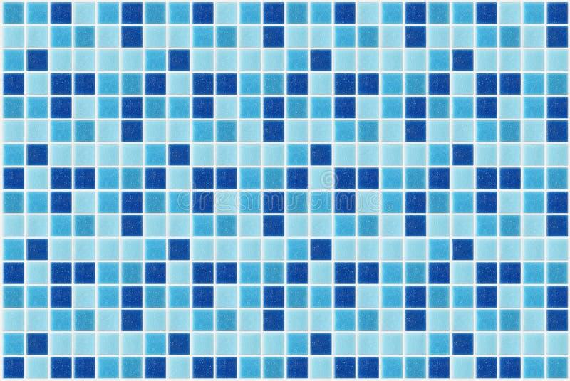 Decken Sie den quadratischen blauen Beschaffenheitshintergrund des Mosaiks mit Ziegeln, der mit Funkeln verziert wird stockfoto