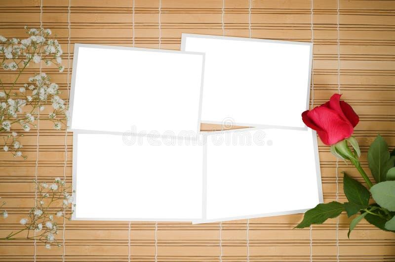 Decken Sie Fotodrucke ab und stieg lizenzfreies stockfoto