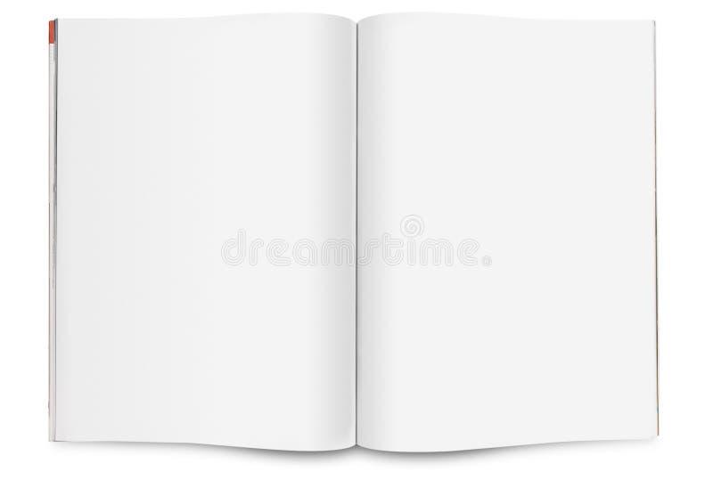 Decken Sie geöffnete Zeitschrift ab stockfotografie