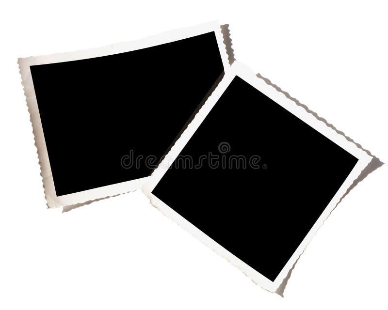 Decken Sie getrennte Fotographien-Fotos auf Weiß ab vektor abbildung