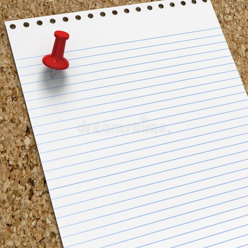 Download Decken Sie Gezeichnetes Briefpapier Mit Rotem Druckbolzen Ab Stock Abbildung - Illustration von nachricht, begriff: 26361714