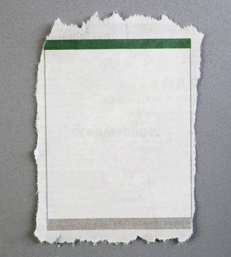Decken Sie heftige Zeitungsanzeige ab lizenzfreie stockbilder