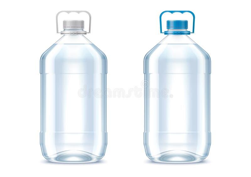 Decken Sie Plastikflaschen ab stock abbildung