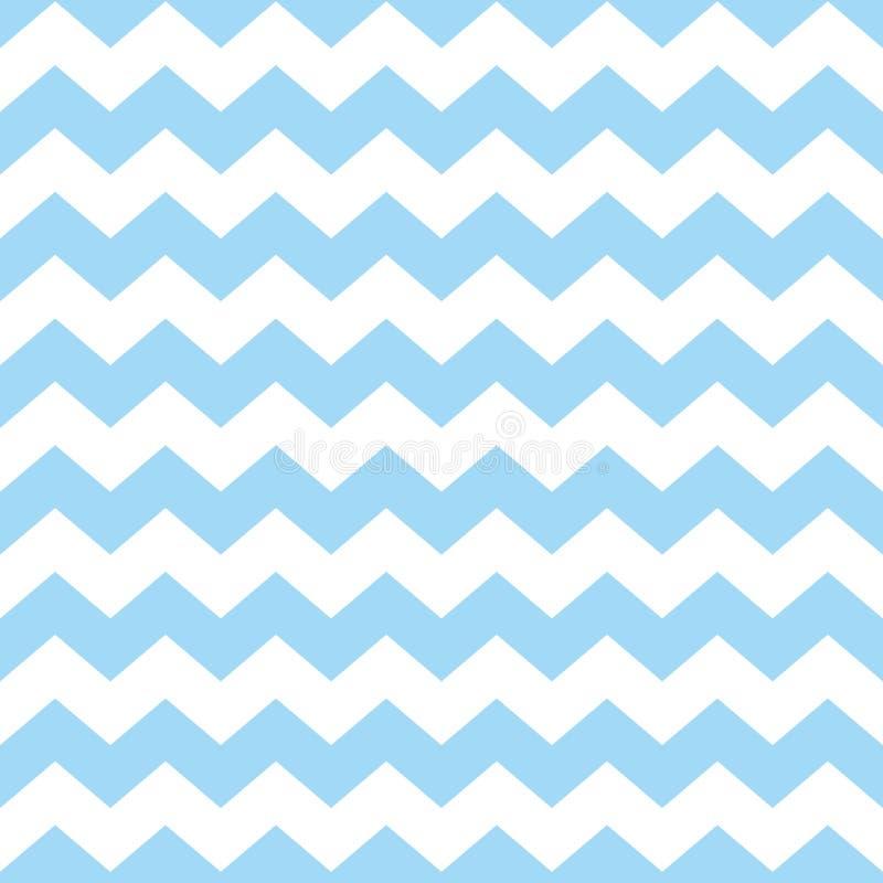 Decken Sie Sparrenvektormuster mit blauem und weißem Zickzackpastellhintergrund mit Ziegeln vektor abbildung
