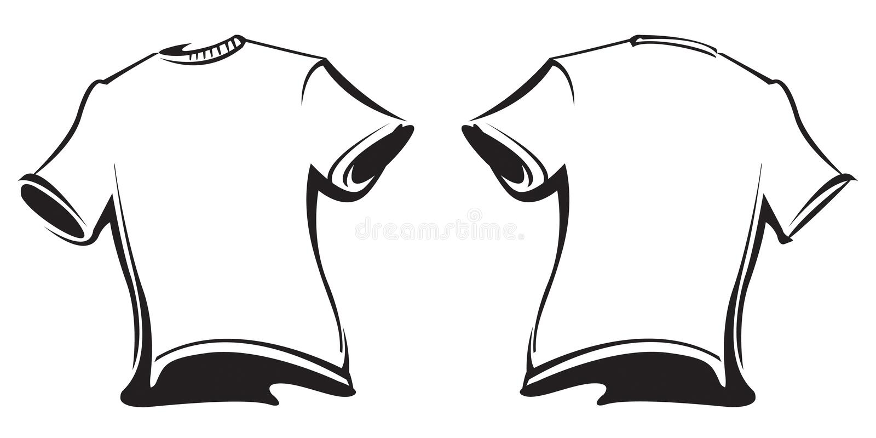 Decken Sie T-Shirts ab vektor abbildung