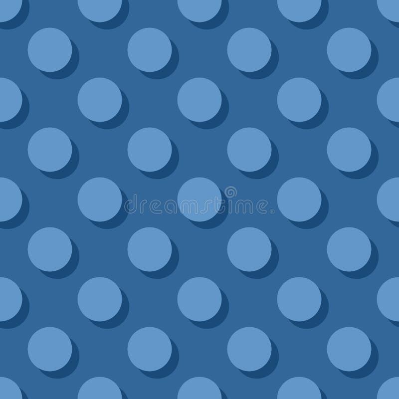 Decken Sie Vektormuster mit Pastelltupfen auf dunkelblauem Hintergrund mit Ziegeln lizenzfreie abbildung