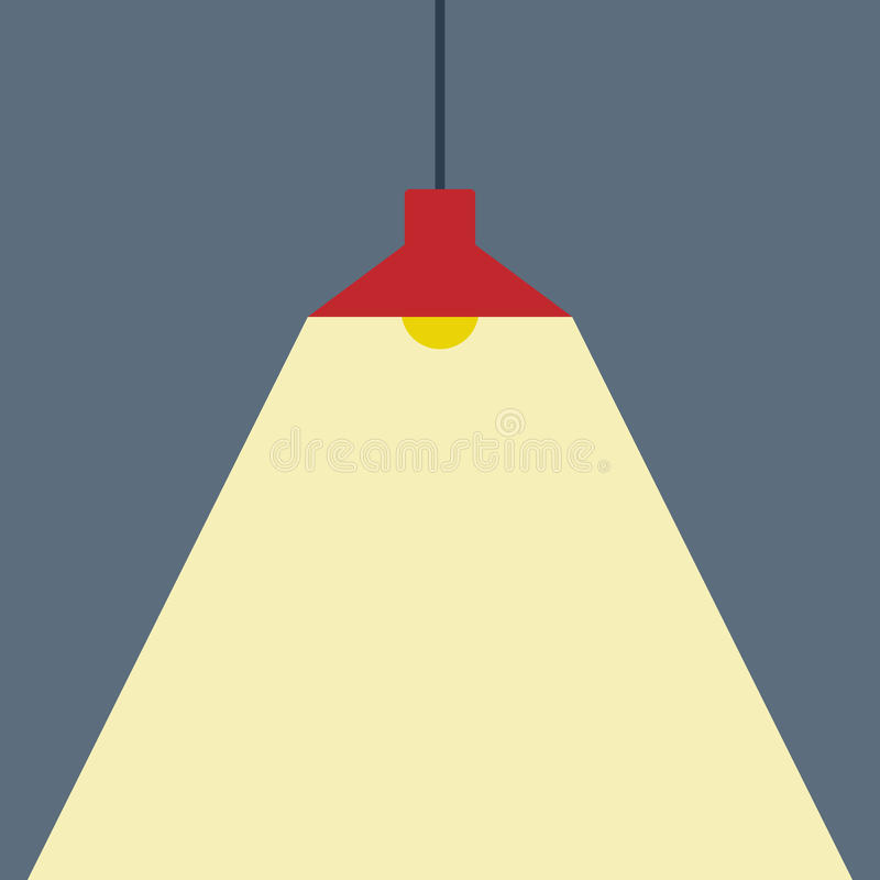 Deckenleuchte-flacher Ikonen-Vektor Vektor Abbildung - Illustration ...