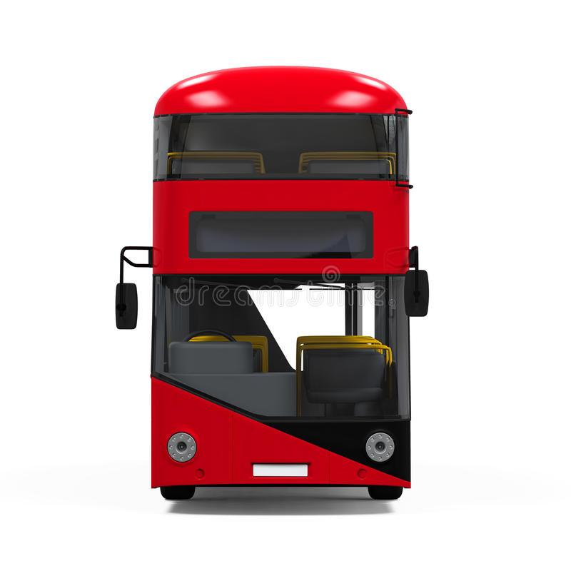 Decker Bus doble ilustración del vector