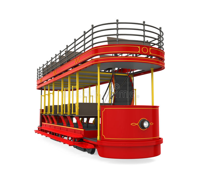 Decker Tram Isolated doble libre illustration