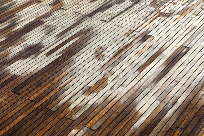 Decking de madeira de algum barco fotografia de stock
