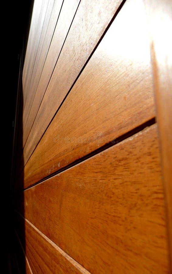 Decking de madera imagenes de archivo