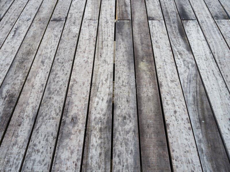 Decking de madera fotos de archivo