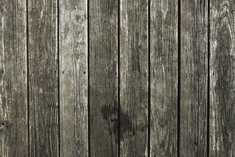 Decking de madera del pino nudoso de Wethered imagenes de archivo