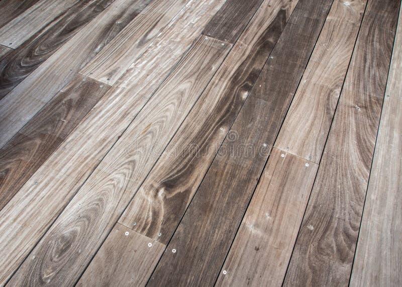 Decking en bois image libre de droits