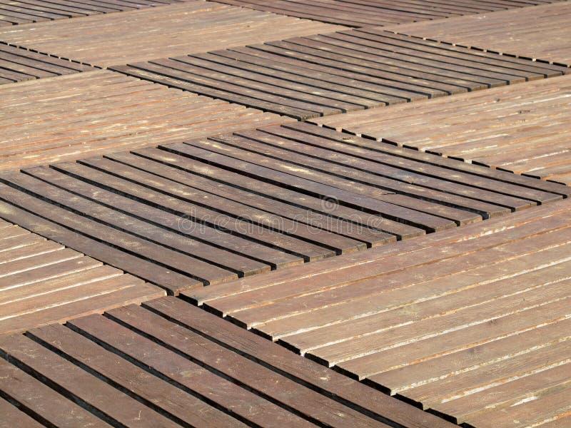Decking extérieur en bois image libre de droits
