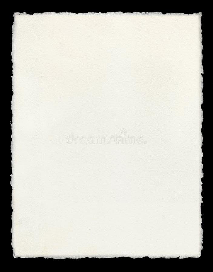 Deckle ha orlato il documento fotografia stock libera da diritti