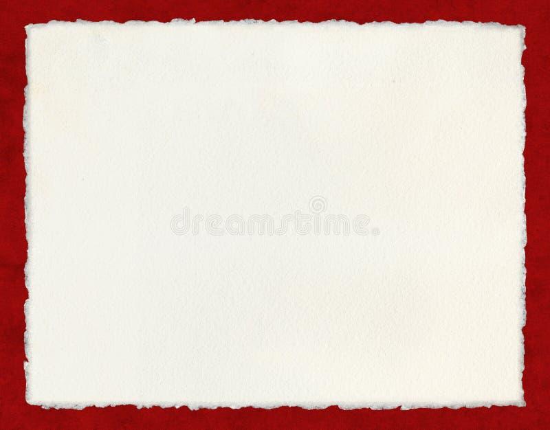 deckled бумажный красный цвет стоковые изображения