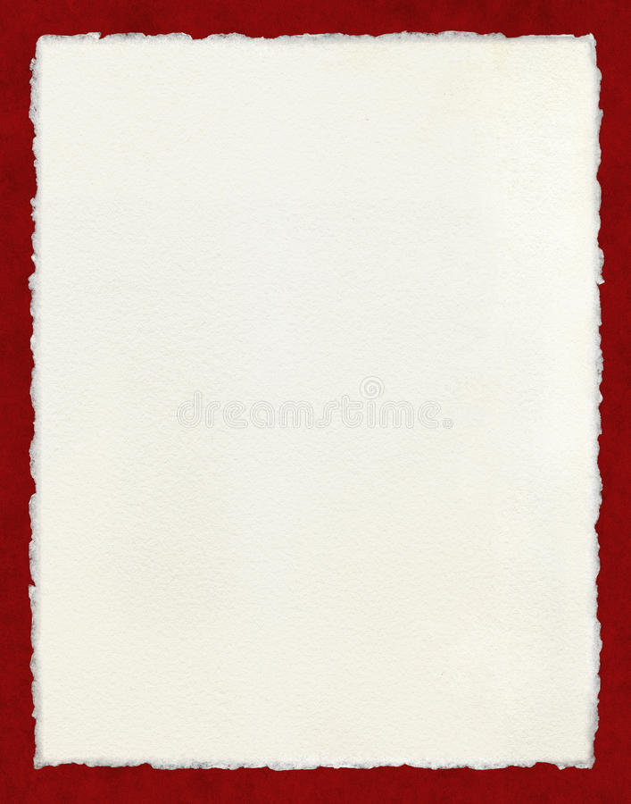 Free Deckled Paper With Red Border Stock Image - 68991371