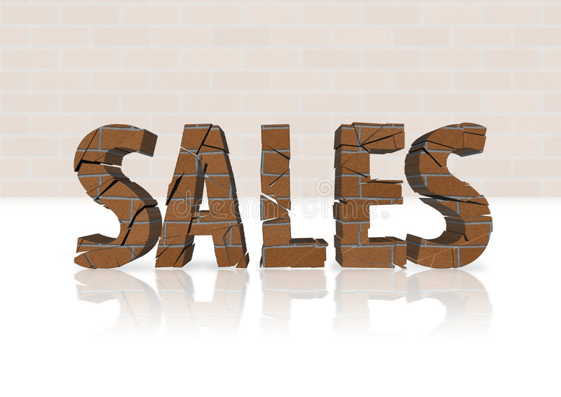 Declínio das vendas da carcaça ilustração stock