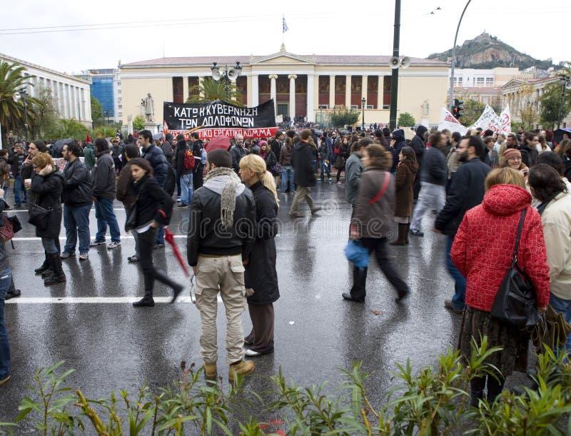 Declaimers em Atenas 18_12_08 fotos de stock