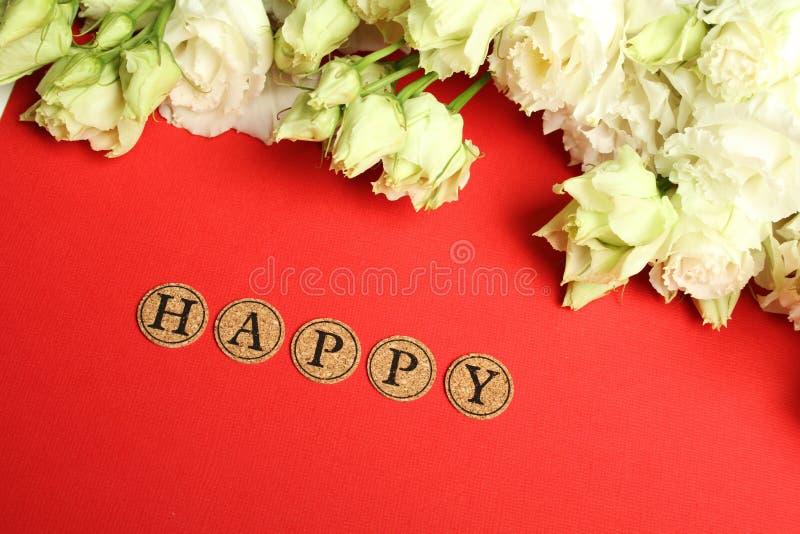 Declaração de feliz imagem de stock royalty free