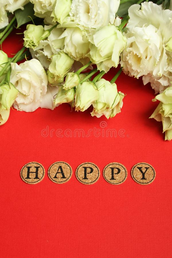 Declaração de feliz fotos de stock