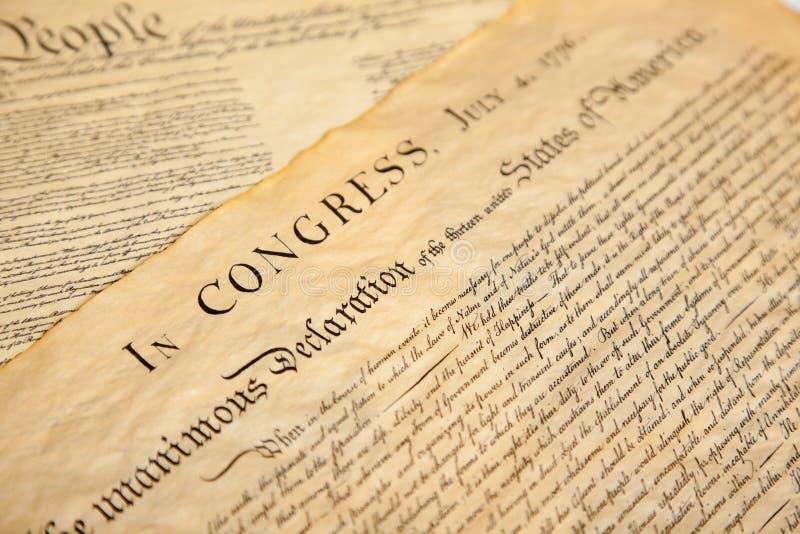 Declaração de independência foto de stock
