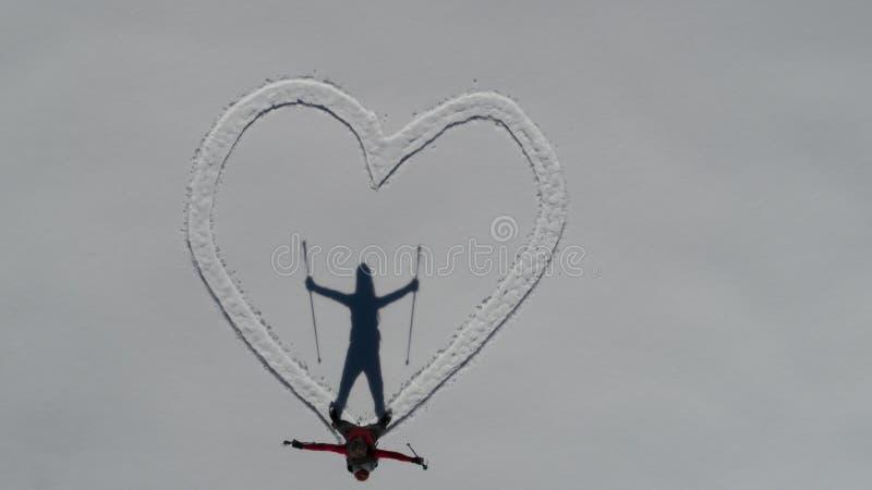Declaração do amor para o montanhista e o conceito criativo imagens de stock
