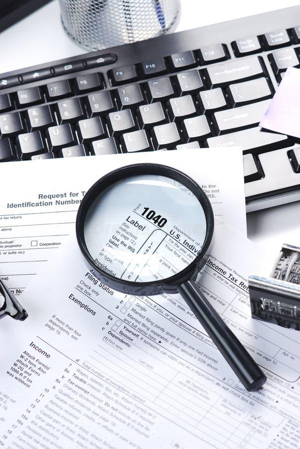 Declaración de impuestos imágenes de archivo libres de regalías