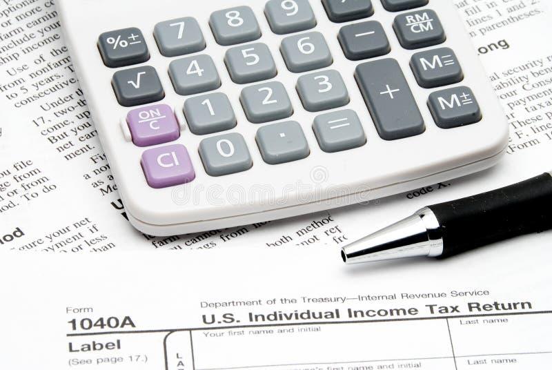 Declaración de impuestos fotografía de archivo libre de regalías