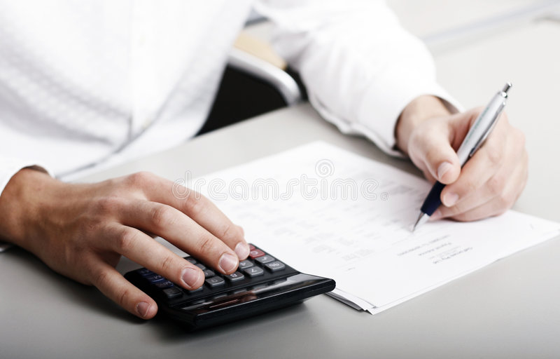Declaración de impuestos financiera fotos de archivo