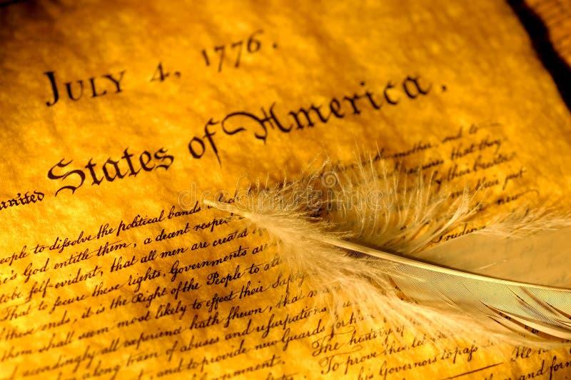 Declaración de Independencia foto de archivo libre de regalías