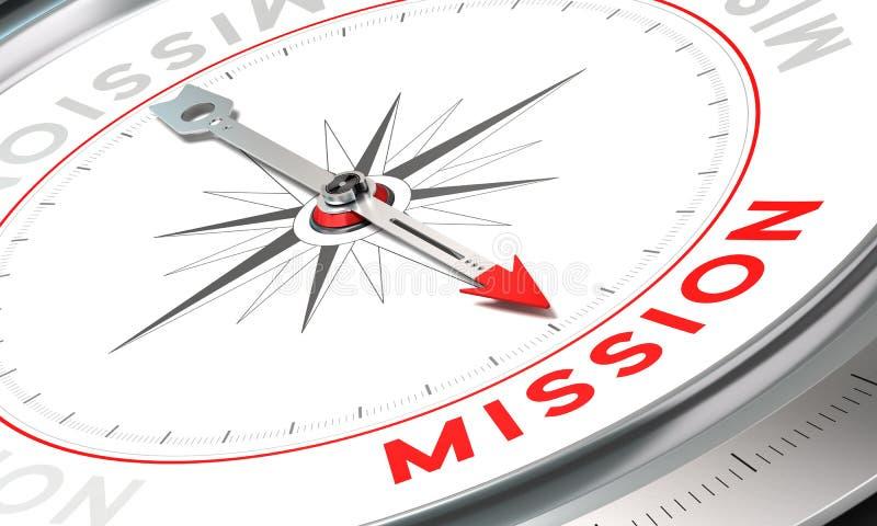 Declaración de la compañía, misión stock de ilustración