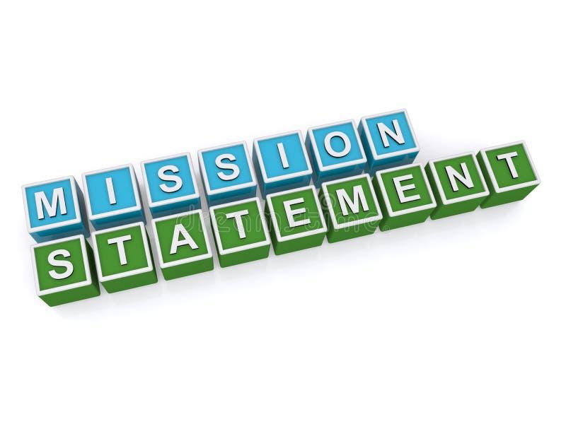Declaración de misión stock de ilustración