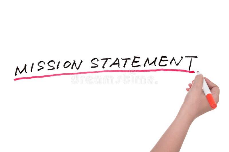 Declaración de misión imagenes de archivo