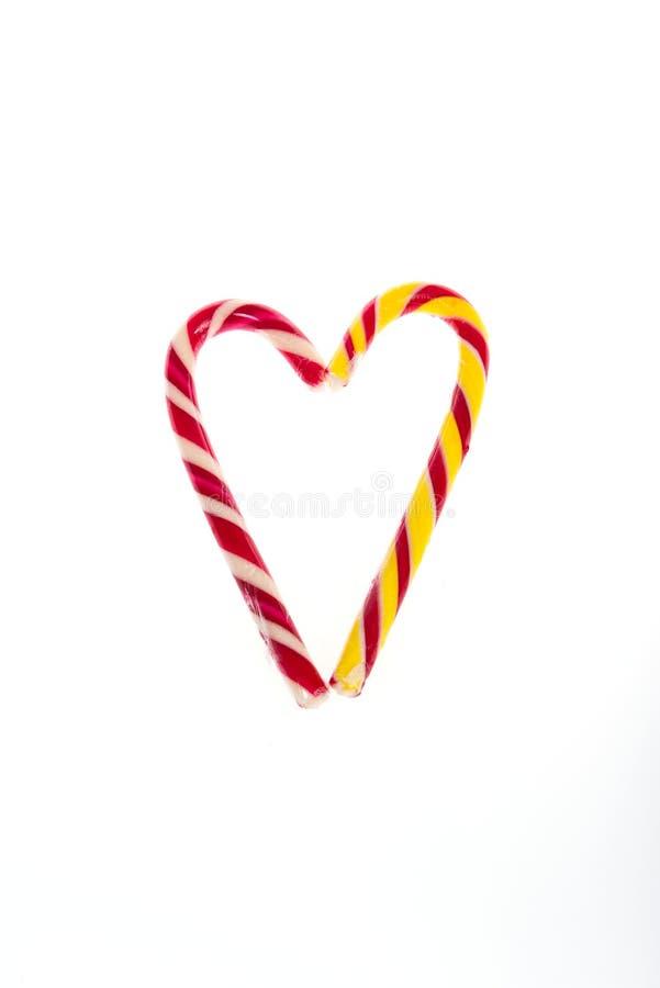 Declaración del amor bajo la forma de corazones del caramelo para el día del ` s de la tarjeta del día de San Valentín imágenes de archivo libres de regalías