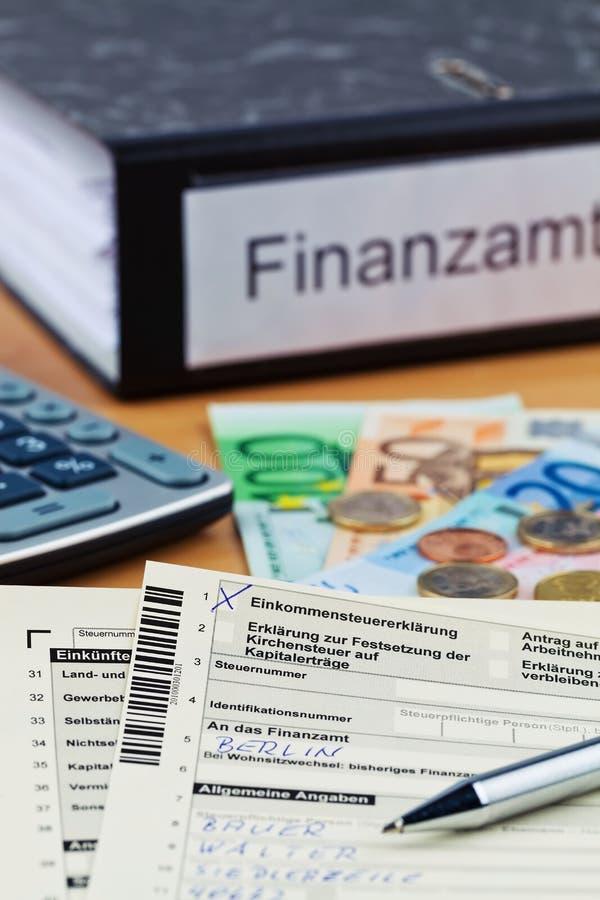 Declaración sobre la renta alemana imagen de archivo