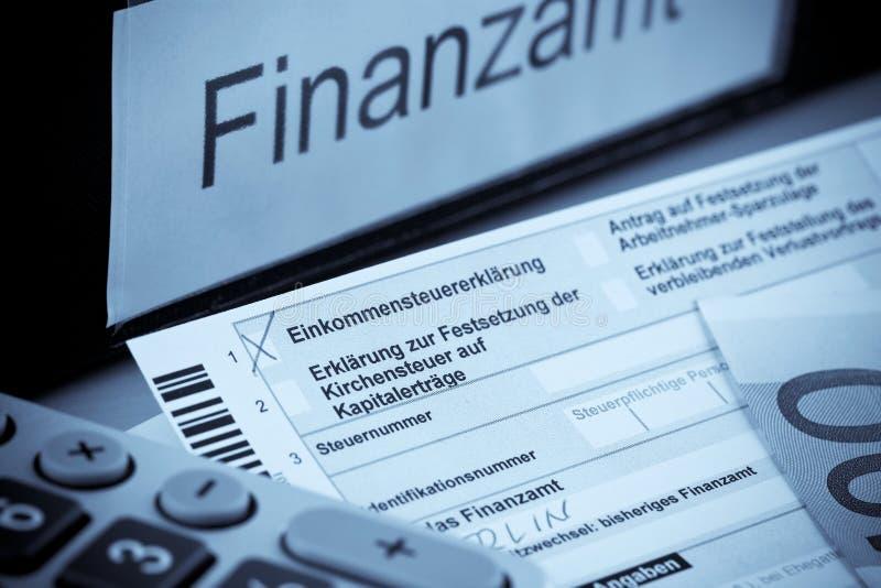 Declaración sobre la renta alemana imágenes de archivo libres de regalías