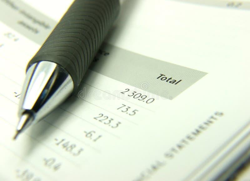 Declaraciones totales de las finanzas imagen de archivo libre de regalías