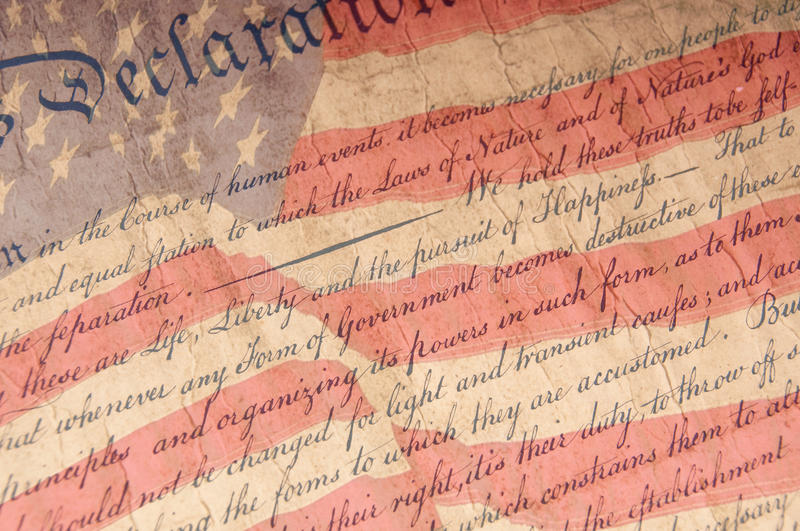 Declaration of Independence Close Up royalty free stock photo