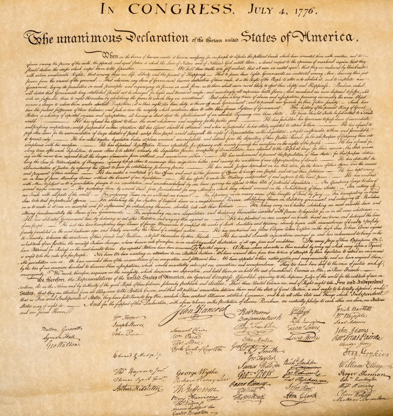 the details of the declaration of independence of the united states On july 4, 1776, the thirteen colonies claimed their independence from england, an event which eventually led to the formation of the united states.