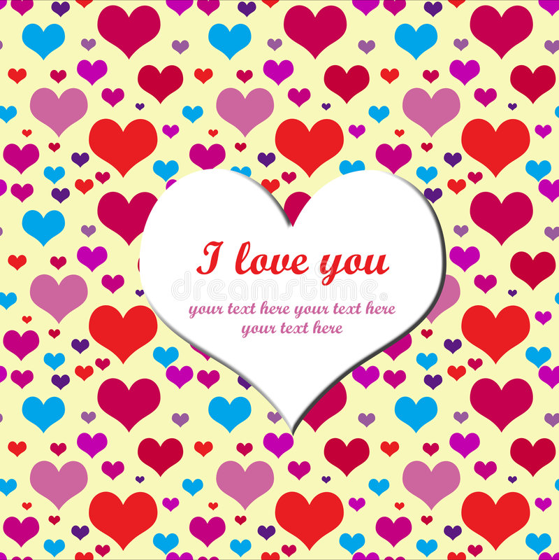 Declaration of love stock photography