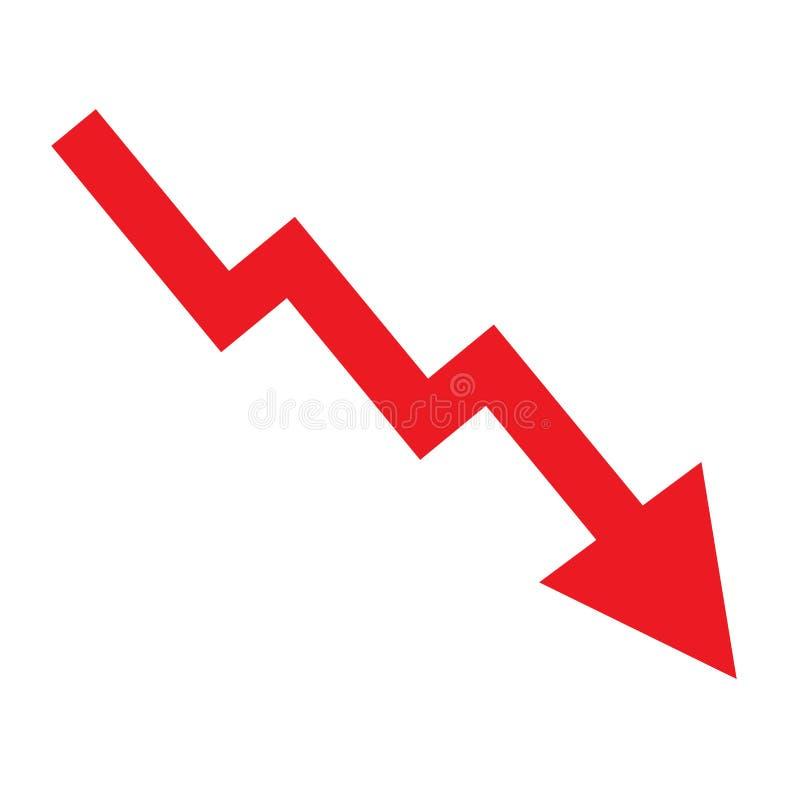 Decline arrow vector illustration