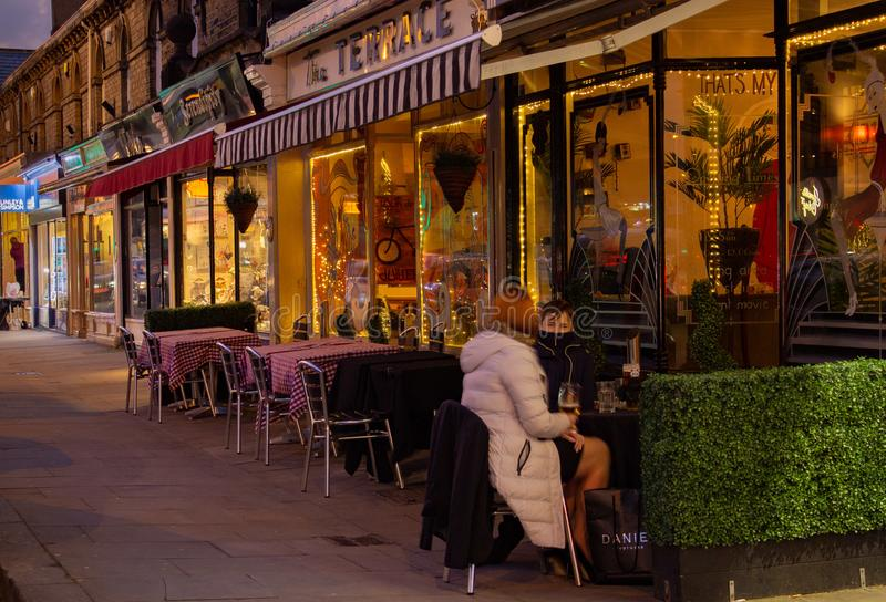 Cafe Culture comes to Saltaire stock photography