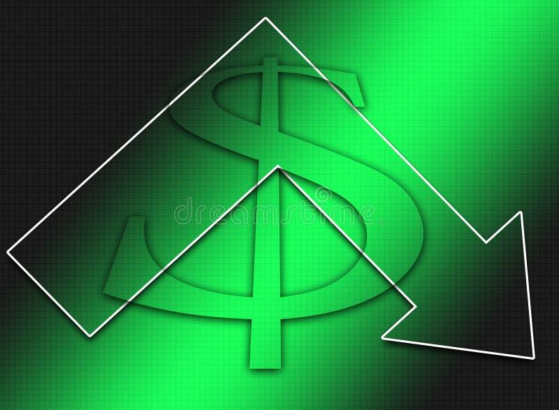 Declining Dollar stock photo