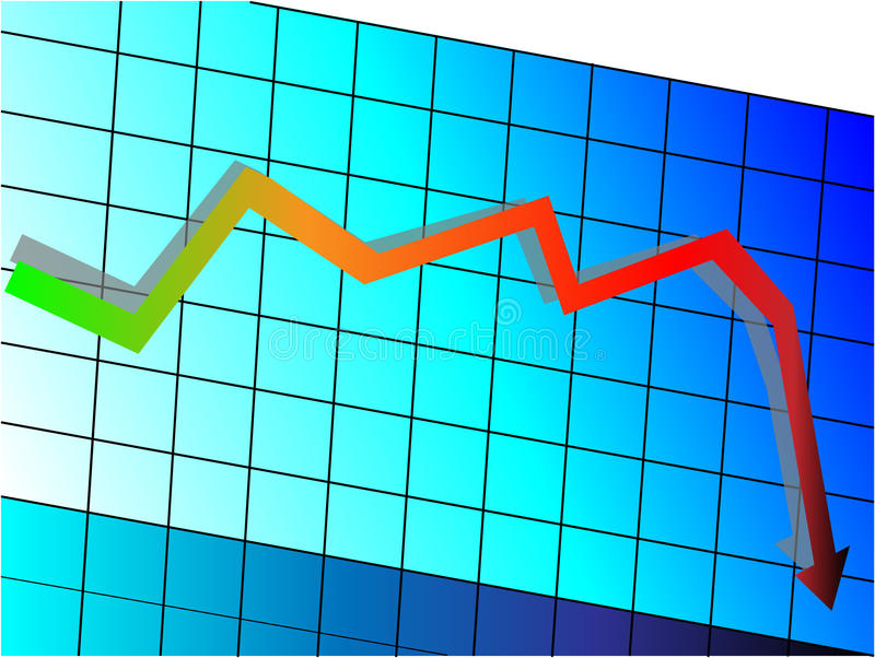 Download Declining graph stock vector. Image of analysis, down - 22275712