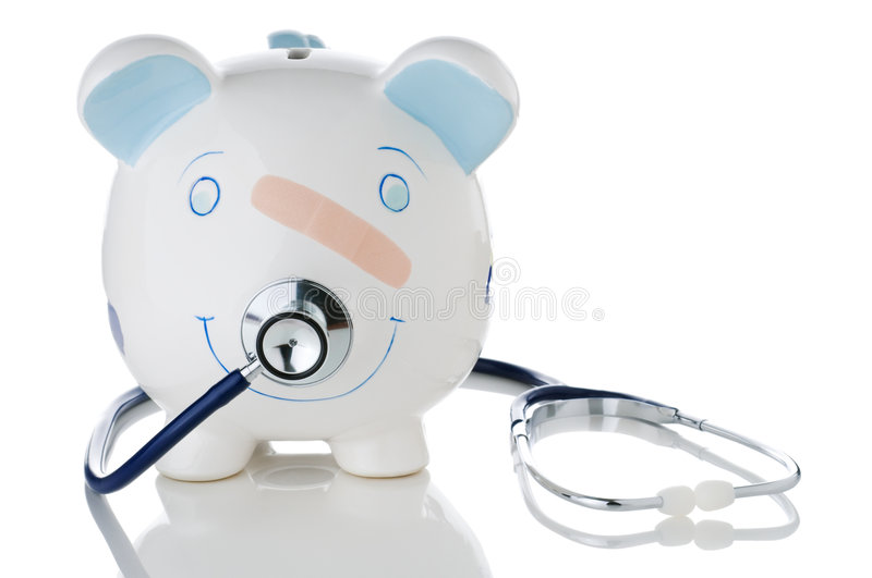 Declining health of savings in a troubled economy royalty free stock photo